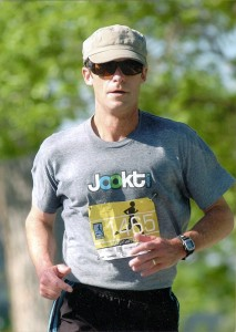 Jack Pottle competing in local marathon.